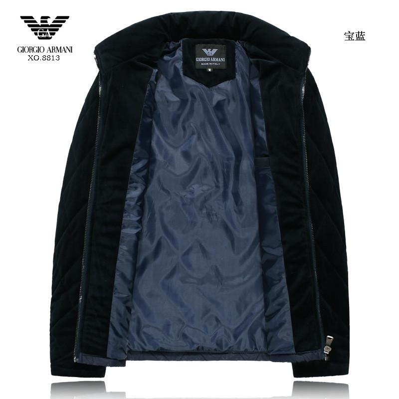 2014 collection doudoune armani automne hiver treillis obliques blue  Convenir à la plupart des modèles Magasins d escompte 06f8dfe97b0